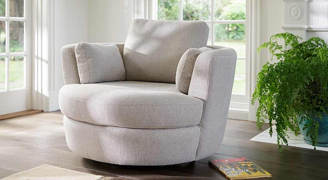 Petite Snuggle Leather Fabric Occasional Chairs
