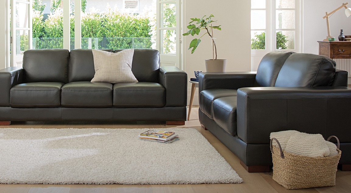 Hudson Leather Sofas | 2 Seater U0026 3 Seater Sofa | Plush Furniture