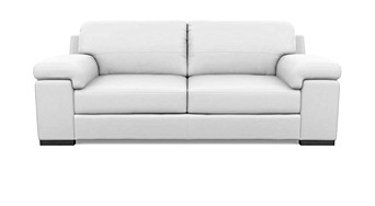 white leather sofa bed. Dante Sofa 3 Seater White Leather Bed