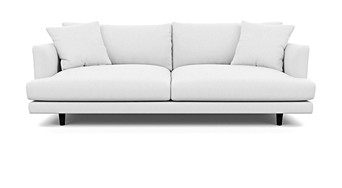 Santa Monica Sofa 3 Seater Walnut Feet